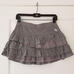 New Abercrombie & Fitch Gray Layered Mini Skirt
